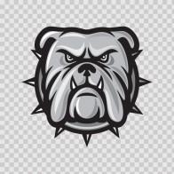 Dog Bulldog Head 09584