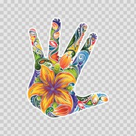 Floral Hand 10234