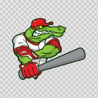 Gator Baseball Player 10393