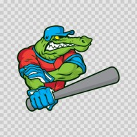Gator Baseball Player 10395