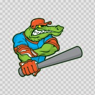 Gator Baseball Player 10398
