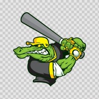 Gator Baseball Player 10399