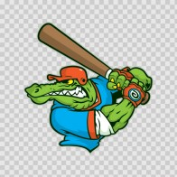 Gator Baseball Player 10412