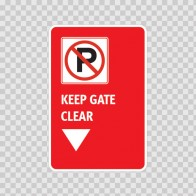 No Parking Keep Gate Clear 11204