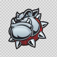 Angry Bulldog Head 11301