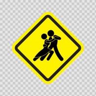 Tango Dance Area Sign 11459