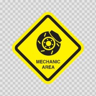 Mechanic Area Sign  11467