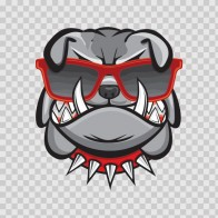 Cool Bulldog Head 11591