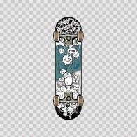 Skateboard Action Art And Design 11644