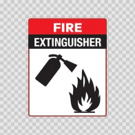 Fire Extinguisher Sign 11714