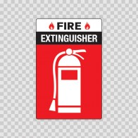 Fire Extinguisher Sign 11717