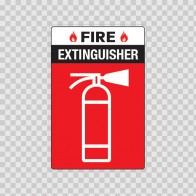 Fire Extinguisher Sign 11718