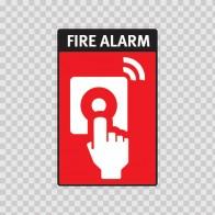 Fire Alarm Button Sign  11724