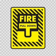 Fire Alarm Pull Down Sign 11727