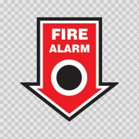 Fire Alarm Button Sign  11733