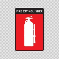 Fire Extinguisher Sign 11735