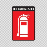 Fire Extinguisher Sign 11736