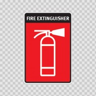 Fire Extinguisher Sign 11737