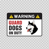 Warning Guard Dogs On Duty Sign 11795