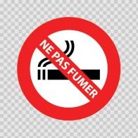 No Smoking Sign Ne Pas Fumer 11824