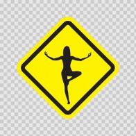 Yoga Pose Position Sign 11846