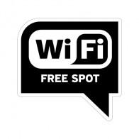 Sign Wifi Free Zone Black Print On Vinyl 12018