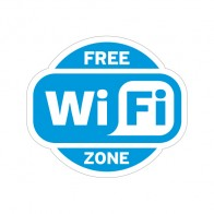 Sign Wifi Free Zone Blue Print On Vinyl 12022