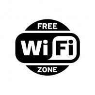 Wifi Free Zone Black & White 12025