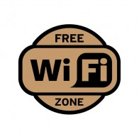 Sign Wifi Free Zone Earth Tone Print For Coffee Shops 12026