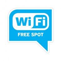 Sign Wifi Free Spot Blue Print On Vinyl 12031