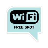 Wifi Free Spot Light Blue Print On Vinyl 12034