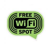 Wifi Free Spot Green Black Print On Vinyl 12038