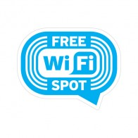 Sign Wifi Free Spot Blue Print On Vinyl 12040
