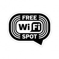 Wifi Free Spot Black White  12044