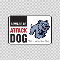 Funny Beware Of Attack Puppie Sign 12107