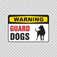 Warning Guard Dogs Sign 12128
