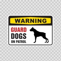 Warning Guard Dogs On Patrol Sign 12130