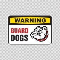 Warning Guard Dogs Sign 12133