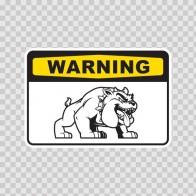 Warning Attack Dog Bulldog Sign 12135