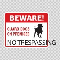 Beware No Trespassing Sign 12140