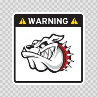 Warning Guard Bulldog Sign 12146