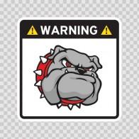 Warning Guard Bulldog Sign 12147