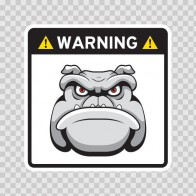Warning Guard Bulldog Sign 12148