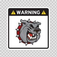 Warning Guard Bulldog Sign 12149