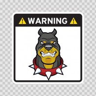 Warning Guard Pitbull  Sign 12151
