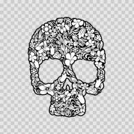 Floral Skull 12348