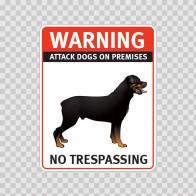 Warning Attack Dog On Premises. No Trespassing 12845