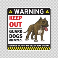 Warning Keep Out Guard Dogs On Patrol 12854