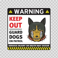 Warning Keep Out Guard Dogs On Patrol 12857