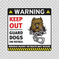 Warning Keep Out Guard Dogs On Patrol 12862